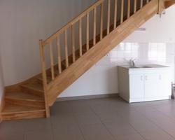 Escalier sur mesure - vernis